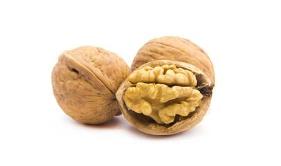 Dried walnut close up