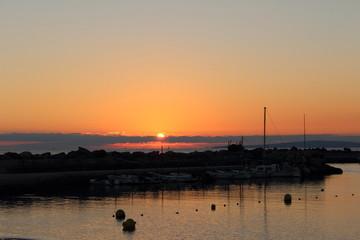 pueto puesta de sol