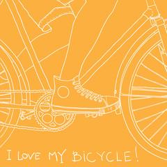 bike background. vector illustration
