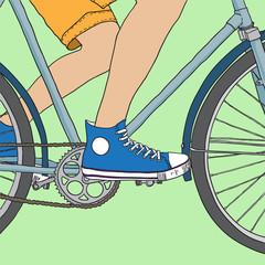 bike. vector illustration