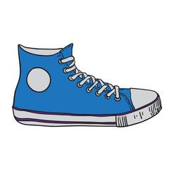 gym shoes. vector illustration