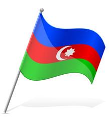 flag of Azerbaijan vector illustration