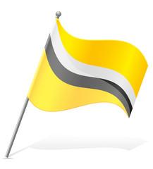flag of Brunei vector illustration