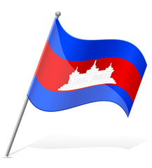 flag of Cambodia vector illustration