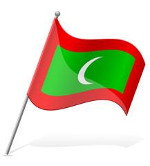 flag of Maldives vector illustration
