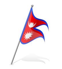 flag of Nepal vector illustration