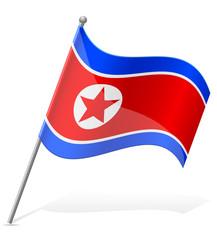 flag of North Korea vector illustration