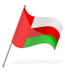 flag of Oman vector illustration
