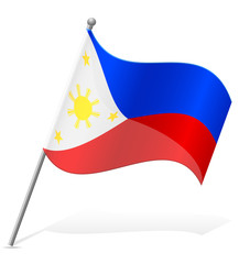 flag of Philippines vector illustration