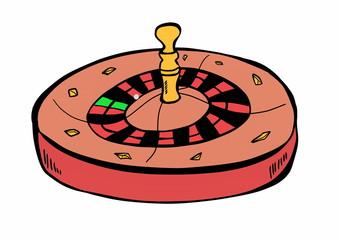 hand drawn casino roulette