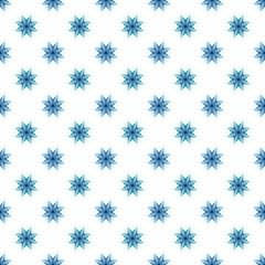 Bright blue star pattern seamless abstract background