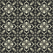 White floral pattern on black background