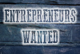 Entrepreneurs Wanted Concept