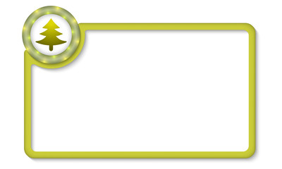 vector frame for entering text with tree symbol
