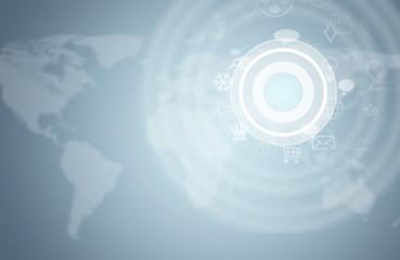 Graphs, circles and world map