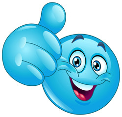 Blue thumb up emoticon