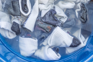 Dirty socks soaked wait