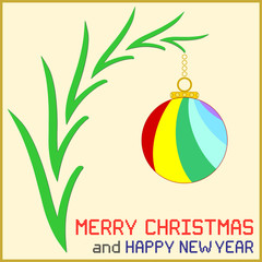 Christmas Message with Ornament