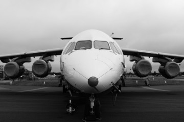 Black and white plane