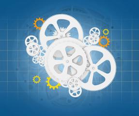 abstract cogwheels