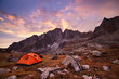 Tourist camping in the mountains - 70033959