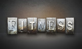 Fototapety Fitness Letterpress