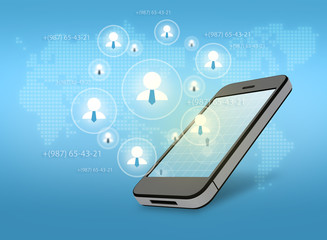 Group network for successful business in a smartphone