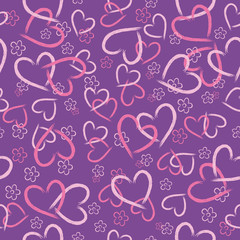 Seamless background of hearts.