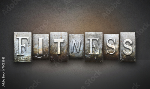 Fitness Letterpress - 70033983