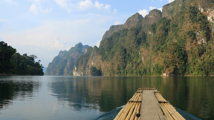 The Chiewlarn Dam Lake Landscape in Thailand
