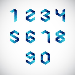 Modern Abstract Number Alphabet-Geometric Style