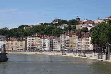 View of lyon with Saone river
