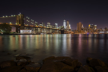 Brooklyn Bridge at night, New York