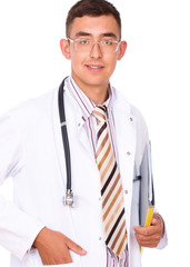 Portrait of medical male doctor
