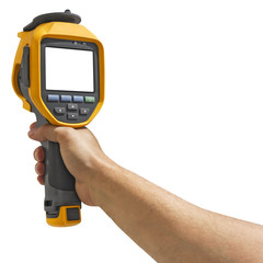 Man recording with thermal camera