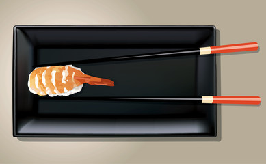 Vector of Nigiri Sushi