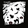 Постер, плакат: Vector Halloween cartoons design elements