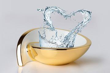 wash basin gold water love