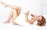 Fototapety woman in bed