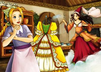 Cartoon fairy tale scene
