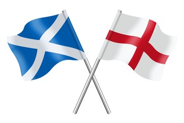 Flags: Scotland and England