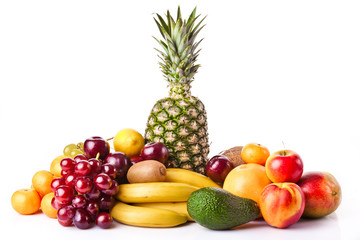 Assortment of exotic fruits. Fresh Fruits