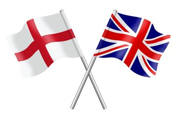 Flags: England United Kingdom