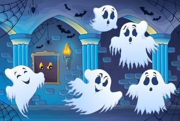 Haunted castle interior theme 4