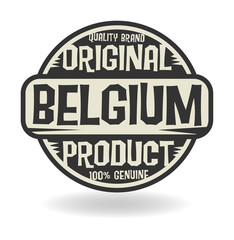 Abstract stamp with text Original Product of Belgium