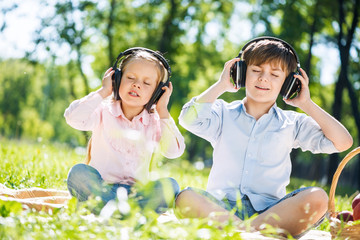 Children enjoying music