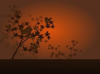 Autumn melancholy background