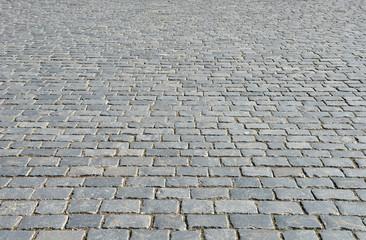 Old cobblestone pavement.