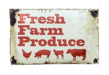 A Fresh Farm Produce Sign