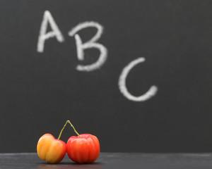 Back to School concept in a black board